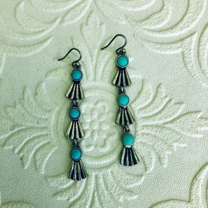 SILVER & TURQUOISE LUCKY BRAND EARRINGS {NEW}